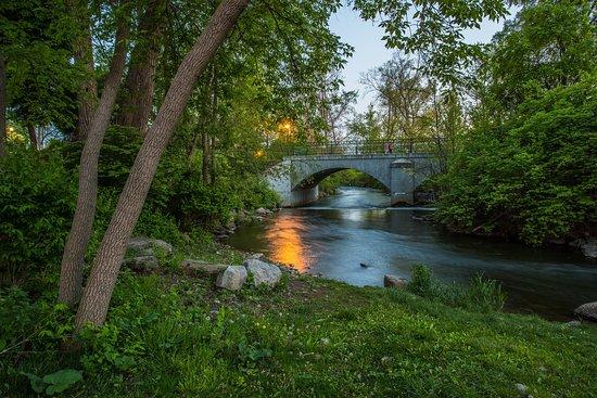 Rochester, ميتشجان: Paint Creek River at Royal Park Hotel