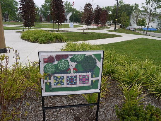 Berne, IN: Diagram of the gardens