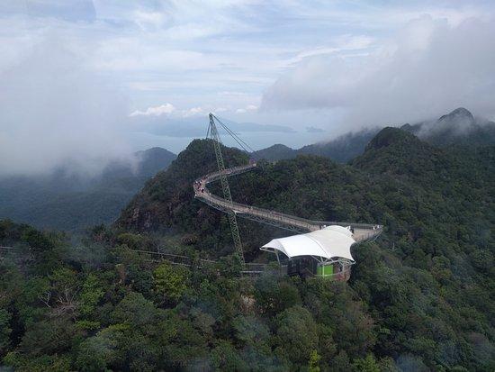 Langkawi Sky-Bridge: The bridge from afar
