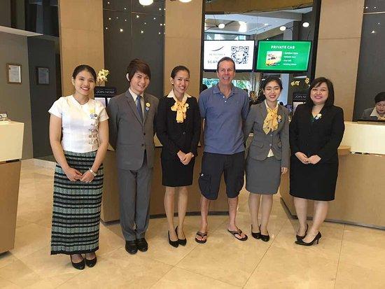 Novotel Yangon Max Lovely Front Desk Staff
