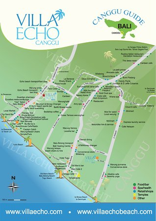 Map of area Picture of Villa Echo Beach Canggu TripAdvisor