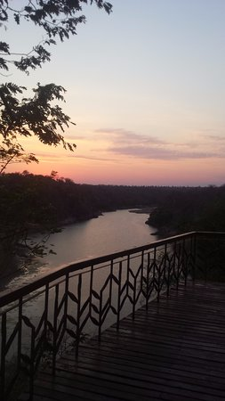 Chiredzi, Zimbabve: The river gorge from the dining deck - right hand side