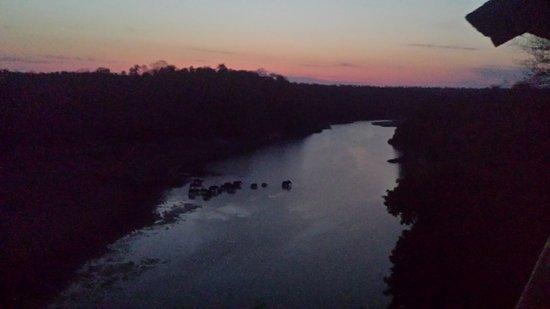 Chiredzi, Zimbabue: Elephants crossing the river