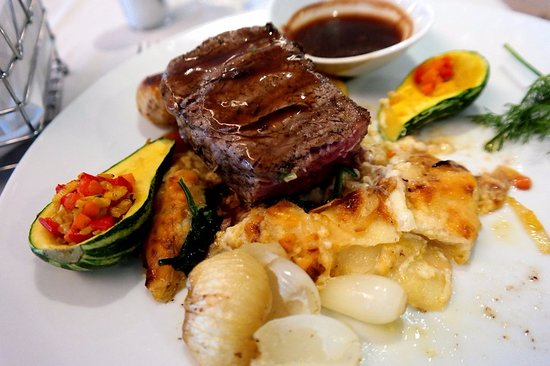 Wilderness, Zuid-Afrika: Main dish, beef fillet with vegetables