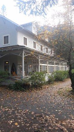 Lake Crescent Lodge: la veranda sul lago