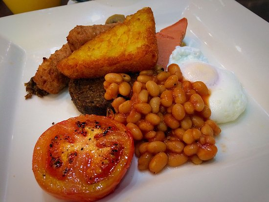 No. 11 Brunswick Street: Vegetarian Cooked Breakfast with poached egg