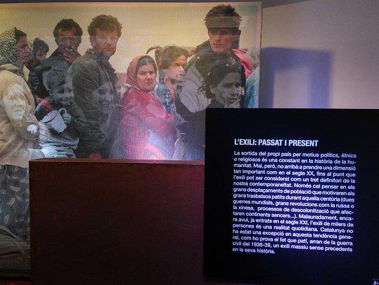 Museu Memorial de l'Exili: Exilio, presente y pasado