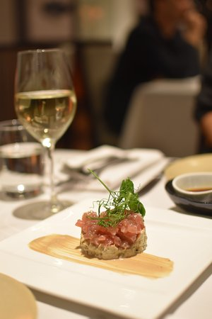 Tapestry Dining: Yellow fin tartar with smoked eggplant