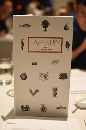 Tapestry Dining: menu