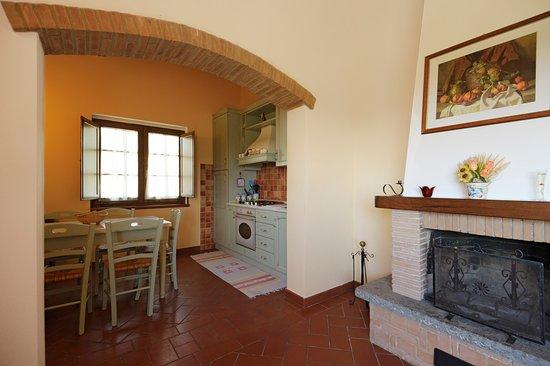 Cinigiano, Italia: soggiorno e cucina