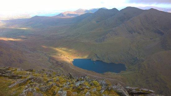 Carrantoohil: vue du sommet