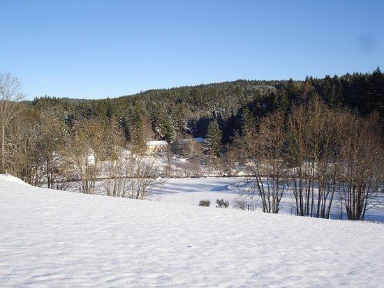 Tence, France: L'hiver au Moulin la Papeterie