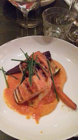 The Colour Kitchen Utrecht Catch Of Day Dish Mackerel In Sweet Potato Sauce