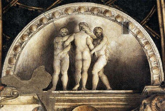 Camera di San Paolo: Le tre grazie.
