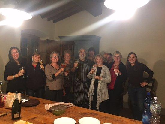 Villa Pecille (Azienda Agricola Fontodi S.S.) : In the kitchen with Chef Mimmo