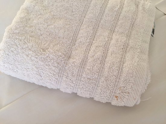 Hotel Gorgona: Dirty towel