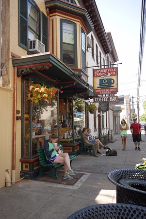 Lambertville Trading Company: Street view, nicely set up.