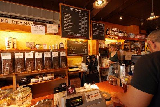 Lambertville Trading Company : Nice coffee display.