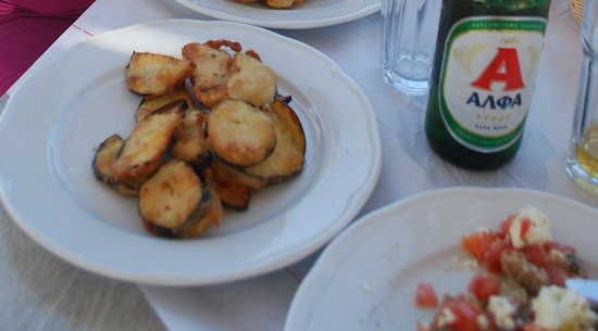 Irakleia, Grecia: zucchine fritte