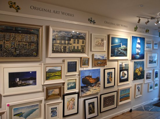 Dunfanaghy, Ierland: Some of the beautiful paintings and prints now on show,and all at affordable prices