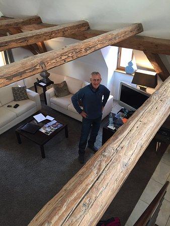Hotel Herrnschloesschen: Picture from up in our loft.