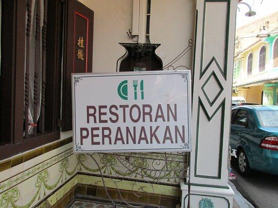 Peranakan House: Signage