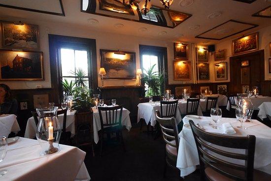 Lambertville, NJ: The quiet dining room.