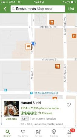 Map on TripAdvisor Picture of Harumi Sushi Phoenix
