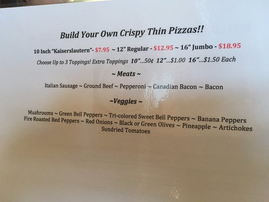 Malvern, IA: Build your own pizza!