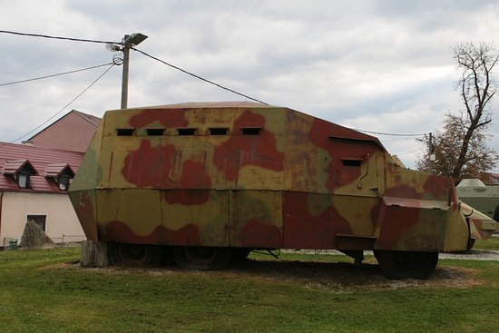 The Museum of Army Collections from the Croatian Homeland War: armored truck
