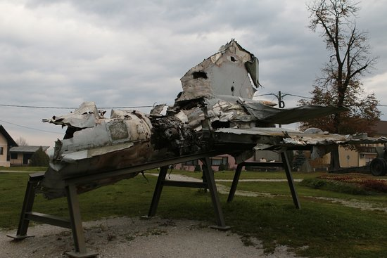 The Museum of Army Collections from the Croatian Homeland War: aircraft wreckage