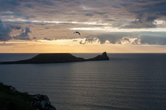 Rhossili Bay at sunset