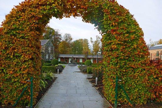 Antrim, UK: Formal Garden at Clotworthy House.