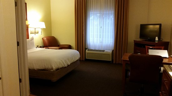 Candlewood Suites Enterprise: Standard queen room with kitchenette