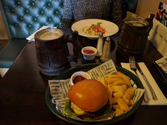 Strangford, UK: Hamburger