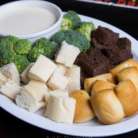 Longview, WA: TRI Cheese Dip - Creamy cheese broccoli and bread and pretzel bites for dipping