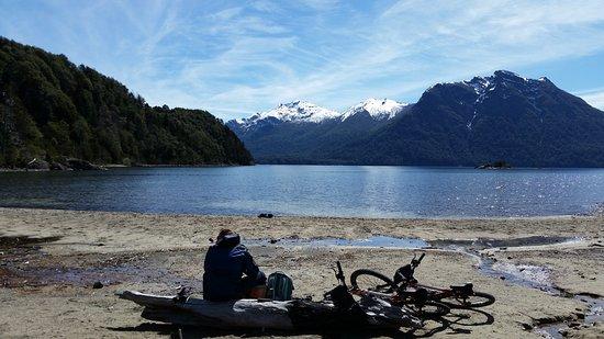 Cordillera Bike Rental & Tours: View from Villa Tacul with Cordillera Bikes