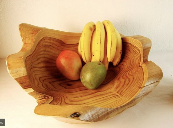 The Costa Rica Coffee Experience: Sustainably harvested wood. Tree root bowls!