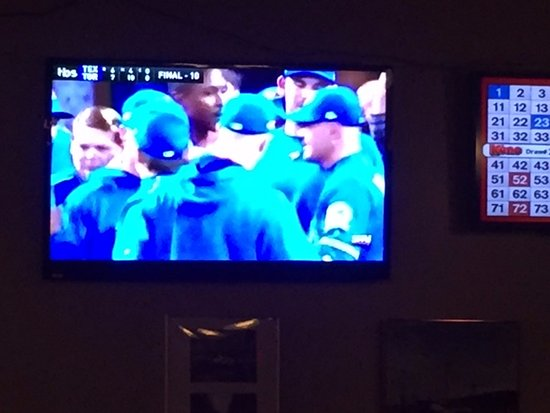 Blue Jays won ! Quarterdeck Restaurant and Pub  6555 Hardy Bay Road, Port Hardy, British Columbi