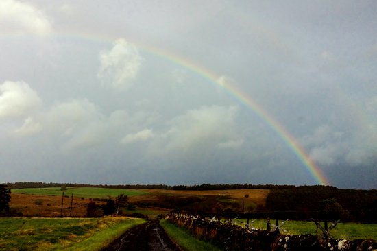 Kippen, UK: we were presented with this rainbow on our departure for Fort William