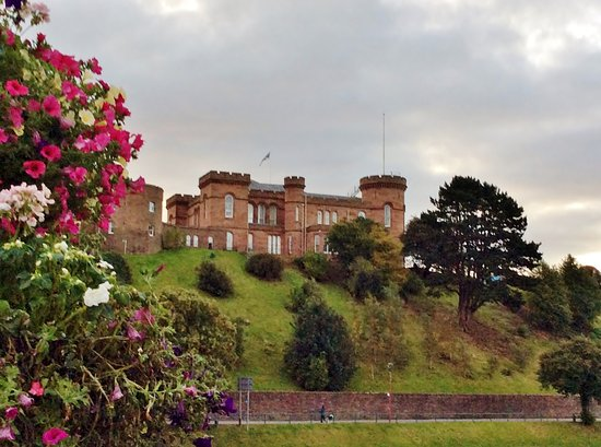 Glenuig House Bed & Breakfast : A view of Inverness castle from the middle of the Bridge street bridge.