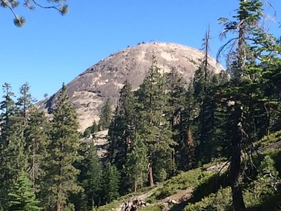 Approaching Sentinel Dome on the trail