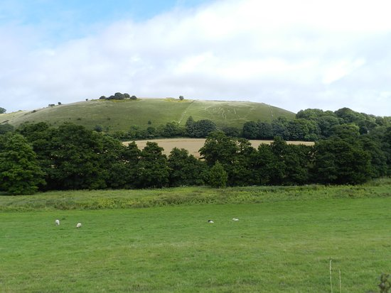 Cerne Abbas, UK: The figure is a fair distance from the viewing area