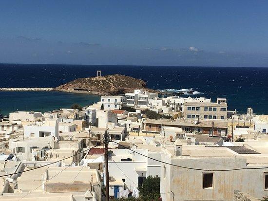 Portara as seen from Kastro (Naxos Castle)