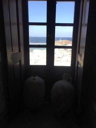 Kastro: view from inside Naxos Castle