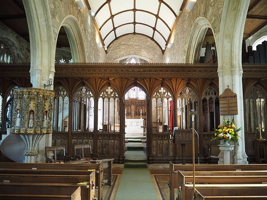 Inside the St George's Church, Dittisham