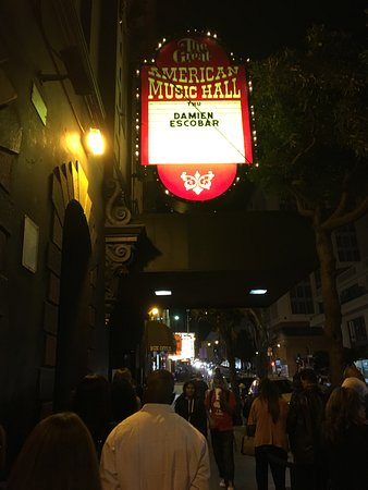 Great American Music Hall: The signage