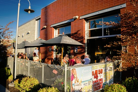 tonicx and ash st tacos patio nicely tucked into a breezeway with