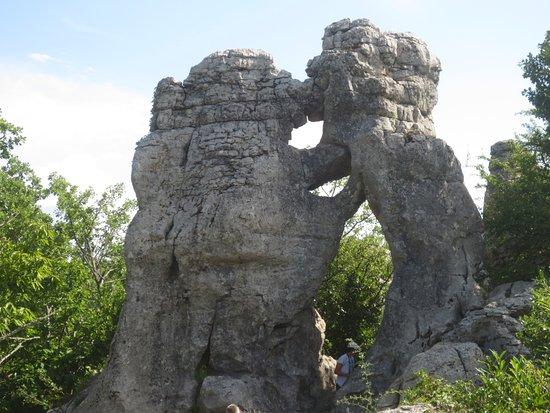 """Lablachere, France: Le fameux """"ours et le lion"""""""