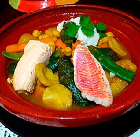 Tajine aux 3 poissons Restaurant Le Tipaza à Villefranche sur saône